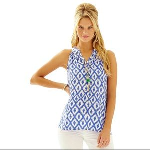 Lilly Pulitzer Bailey Tank Top in Little Fish